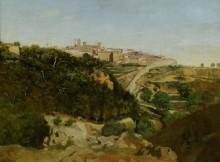 Пейзаж с видом на Вольтерру - Коро, Жан-Батист Камиль