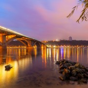 Ночь. Мост через Днепр - Сток