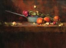 Эмалированная кастрюля и персики - Ридель, Давид