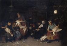 Женщины, общипывающие гусей - Либерман, Макс