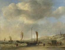 Берег в Схевенингене - Велде, Виллем ван де (Младший)