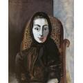 Портрет Жаклин в кресло-качалке и черном шарфе,1954 - Пикассо, Пабло