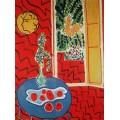 Красная комната: натюрморт на голубом столе - Матисс, Анри
