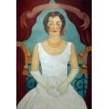 Портрет сеньоры в белом платье - Кало, Фрида
