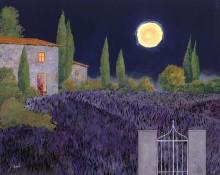 Лавандовое поле ночью - Борелли, Гвидо (20 век)