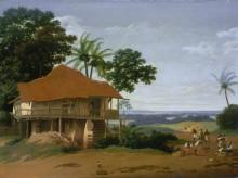 Бразильский пейзаж с домом рабочих - Пост, Франс