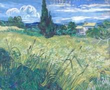 Зеленое пшеничное поле с кипарисом (Green Wheat Field with Cypress), 1889 - Гог, Винсент ван