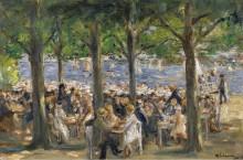Пивной сад под сенью деревьев, 1920-22 - Либерман, Макс