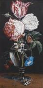 Натюрморт с цветами в стеклянной вазе - Сегерс, Даниель
