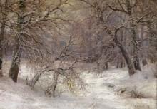 Зимний пейзаж - Вельц, Иван Августович