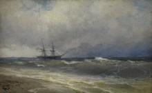 Корабль в бушующем море - Айвазовский, Иван Константинович