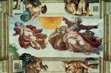 Сотворение солнца и луны - Микеланджело Буонарроти