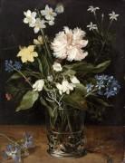 Натюрморт с цветами в стакане - Брейгель, Ян (Старший)