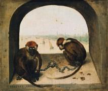 Две цепные обезьянки - Брейгель, Питер (Старший)