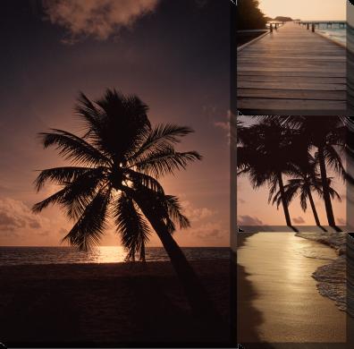 Пляж закат