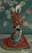 Камилла Моне в японской одежде - Моне, Клод