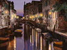 Венеция в сумерках - Борелли, Гвидо (20 век)
