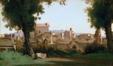 Вид на Рим из садов Фарнезе - Коро, Жан-Батист Камиль