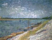 Вид на реку с вёсельными лодками (View of a River with Rowing Boats), 1887 - Гог, Винсент ван