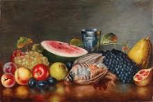 Натюрморт с фруктами и фазаном - Вокос, Николаос