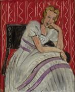 Молодая женщина в сером платье - Матисс, Анри