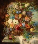 Летние цветы на каменном постаменте - Зацка, Ханс