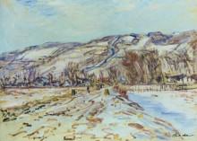 Зима в Живерни - Моне, Клод