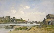 Мост на реке Тук в Довиле - Буден, Эжен