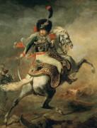 Офицер конных егерей императорской гвардии, идущий в атаку - Жерико, Теодор Жан Луи Андре