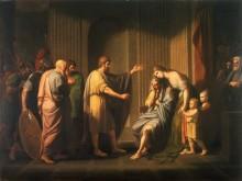 Клеомброт, отправляемый в изгнание царем Спарты Леонидом - Уэст, Бенжамин