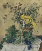 Натюрморт с цветами и виноградом - Рафаэлли, Жан Франсуа