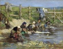 Прачки у ручья - Буден, Эжен