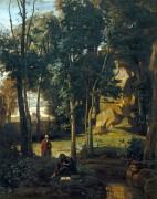 Пейзаж с Демокритом и абдерианцем - Коро, Жан-Батист Камиль