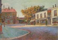 Улица в Аньере, 1884 - Синьяк, Поль