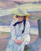Молодая женщина на песчаном берегу, 1901 - Рейссельберге, Тео ван