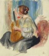 Женщина с гитарой, 1895-97 - Ренуар, Пьер Огюст