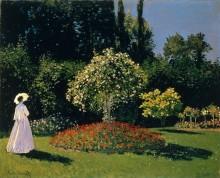 Жанна-Маргарита Лекард в саду, 1866 - Моне, Клод