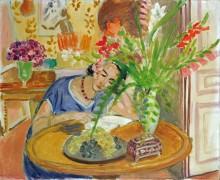 Женщина с гладиолусами - Матисс, Анри