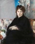 Мадам Потийон, сестра художницы, сидящая на софе - Моризо, Берта