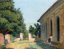 Женщина на террасе - Мартен, Анри Жан Гийом