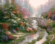Пейзаж с мостом - Кинкейд, Томас
