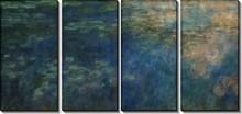 Отражение облаков в пруде с лилиями - Моне, Клод