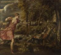 Смерть Актеона - Тициан Вечеллио