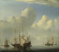 Голландский корабль бросает якорь - Велде, Виллем ван де (Младший)