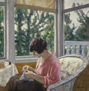 Сидящая молодая женщина, 1913 - Андре, Альберт