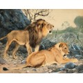 Лев и львица в ожидании - Кунерт, Вильгельм