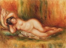 Лежащая купальщица - Ренуар, Пьер Огюст