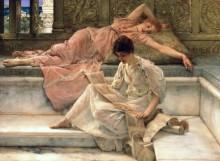 Любимый поэт - Альма-Тадема, Лоуренс