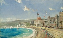 Пляж в Ницце - Кинкейд, Томас