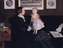 Миссис Джеймс Уайет с дочерью Сарой - Милле, Джон Эверетт